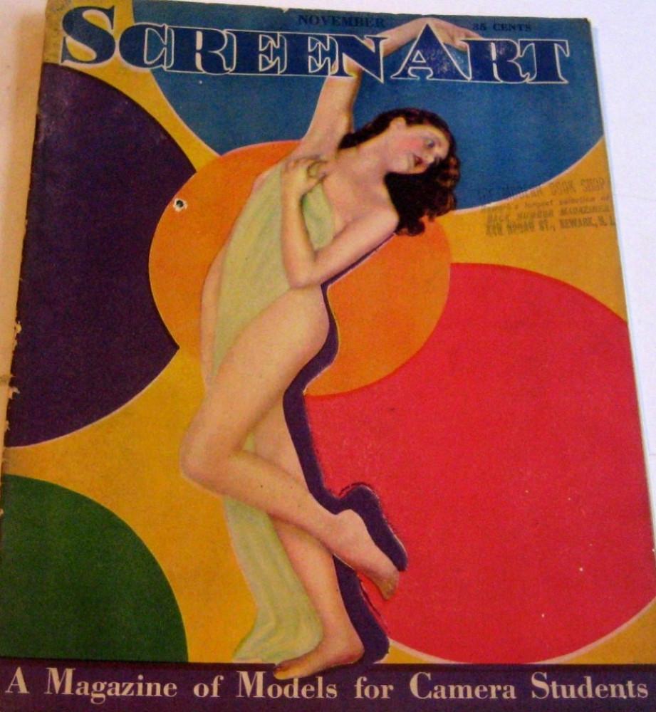 carole lombard screen art november 1929 cover large