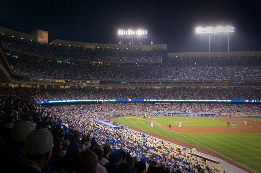 los angeles dodger stadium night 00