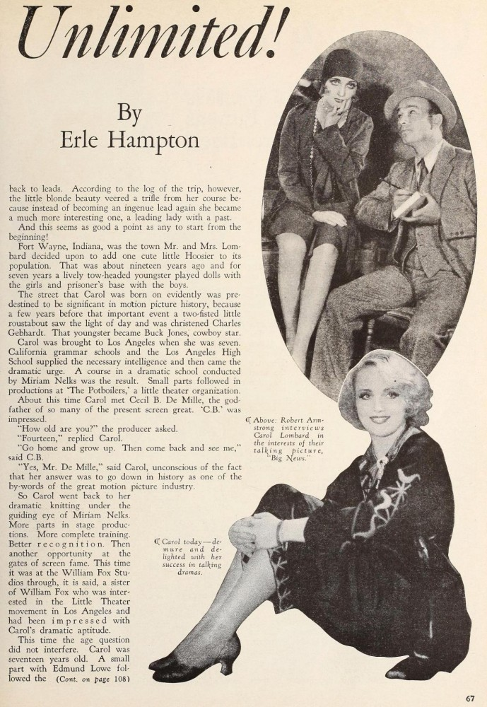 carole lombard screenland september 1929ba