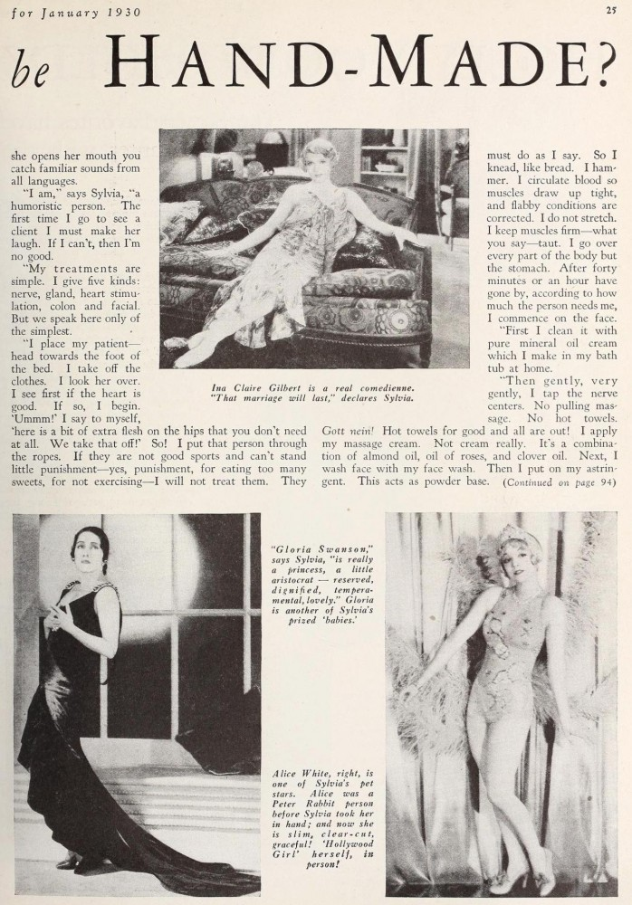 carole lombard screenland january 1930ca