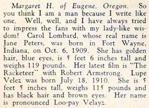 carole lombard screenland january 1930fb
