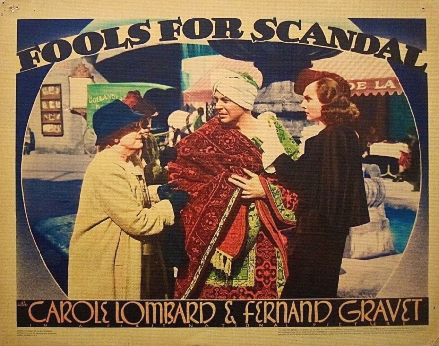 carole lombard fools for scandal lobby card 05a