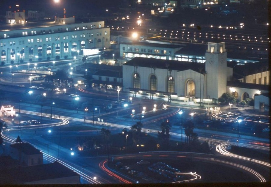 los angeles union station 1960b night