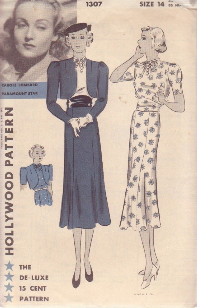 carole lombard hollywood pattern 1307aa