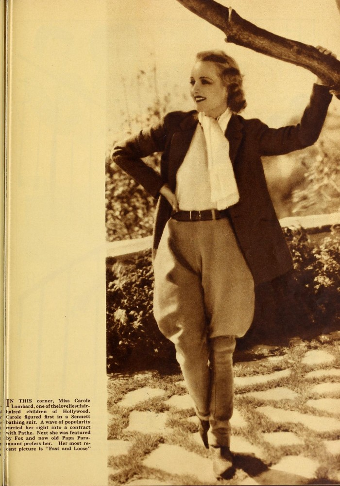 carole lombard silver screen february 1931c