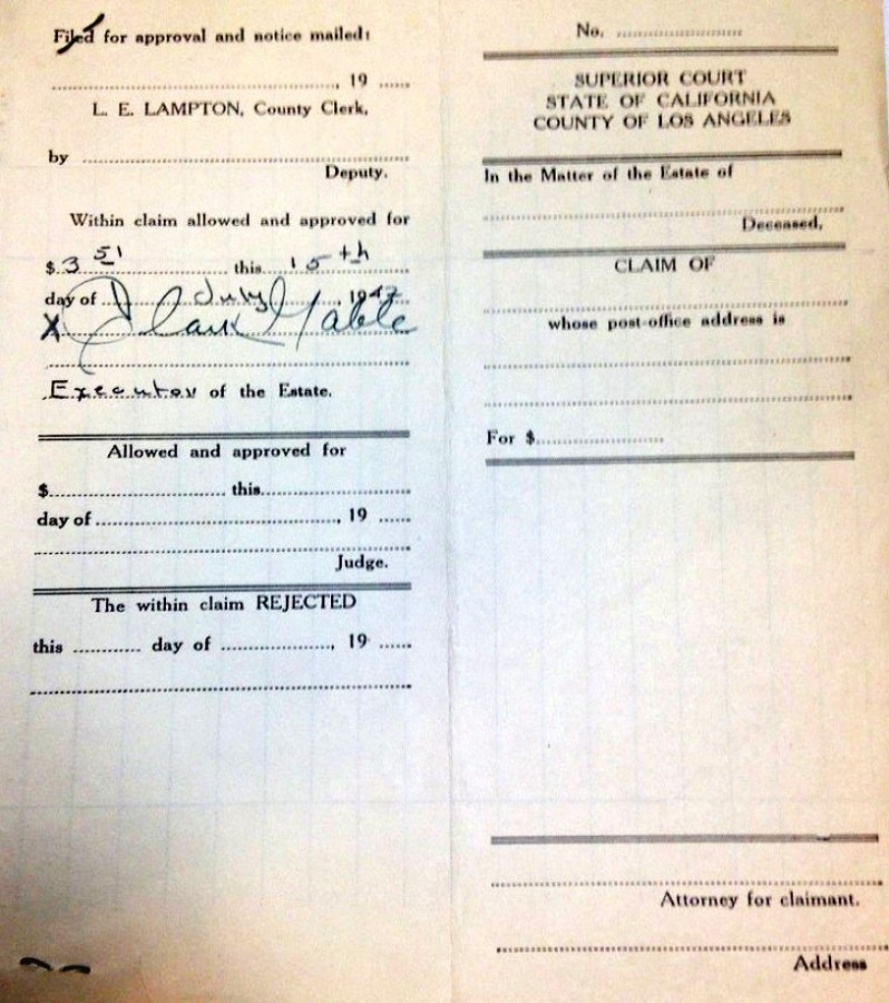 carole lombard clark gable 1942 estate document 05b