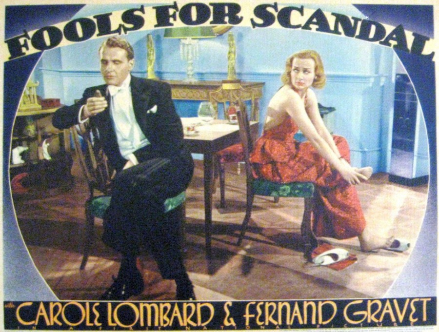 carole lombard fools for scandal lobby card 08a