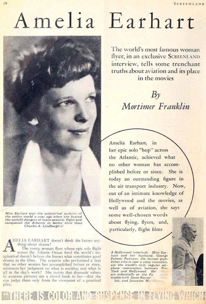 amelia earhart screenland june 1933aa