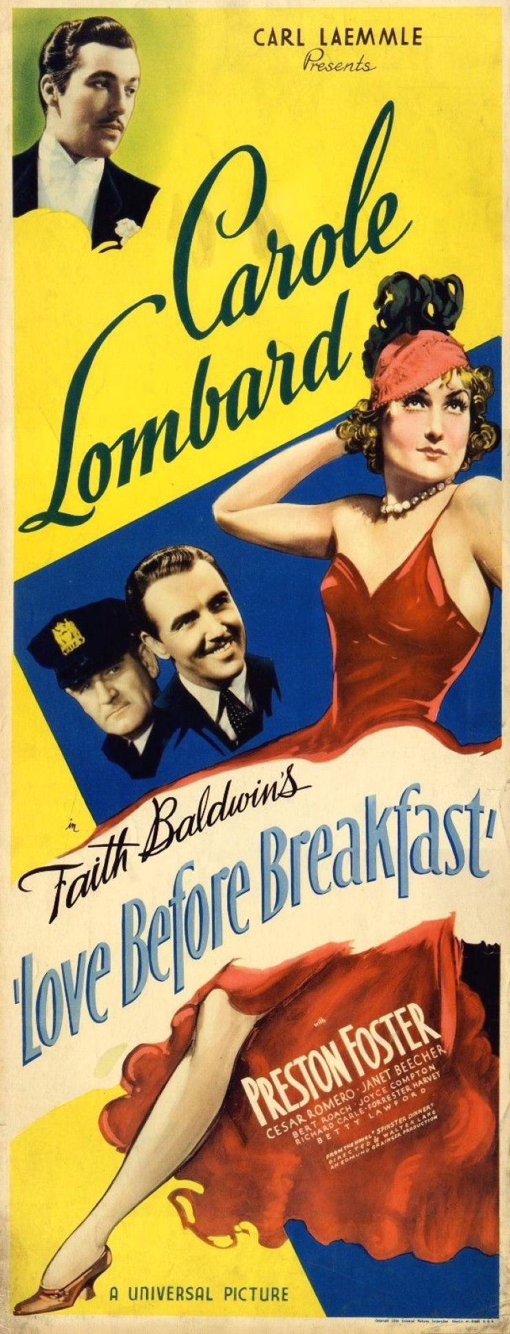 carole lombard love before breakfast poster 07b