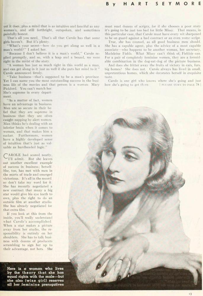 carole lombard photoplay june 1937ba