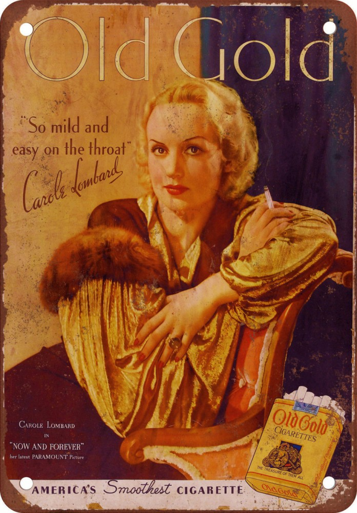 carole lombard old gold ad reproduction 00a