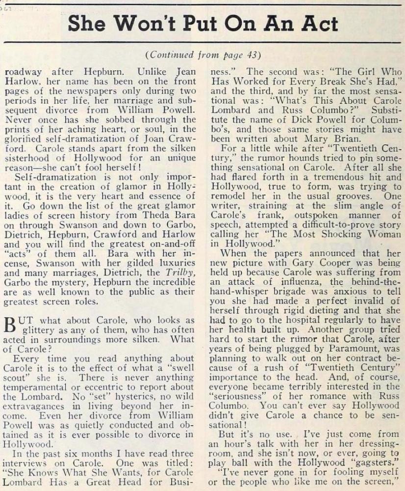 carole lombard modern screen october 1934ba