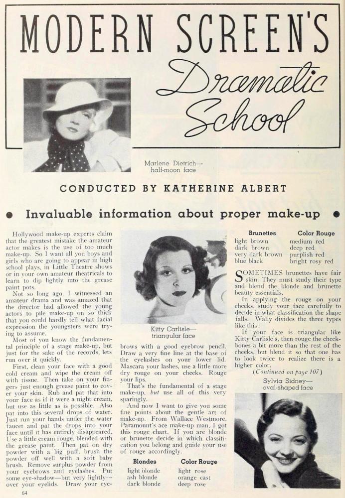 carole lombard modern screen october 1934ha