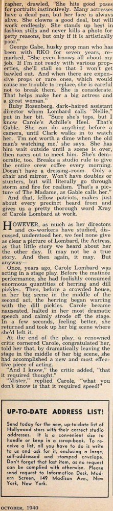 carole lombard modern screen october 1940ea