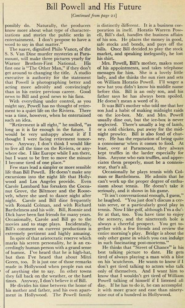carole lombard silver screen august 1931ba