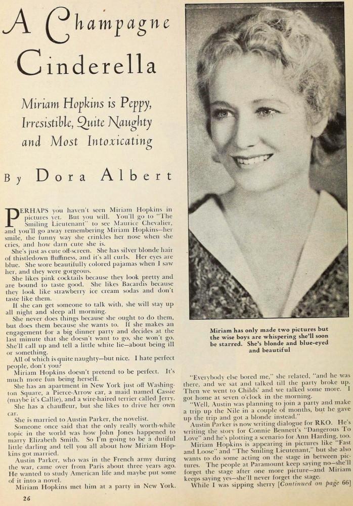 silver screen august 1931aa