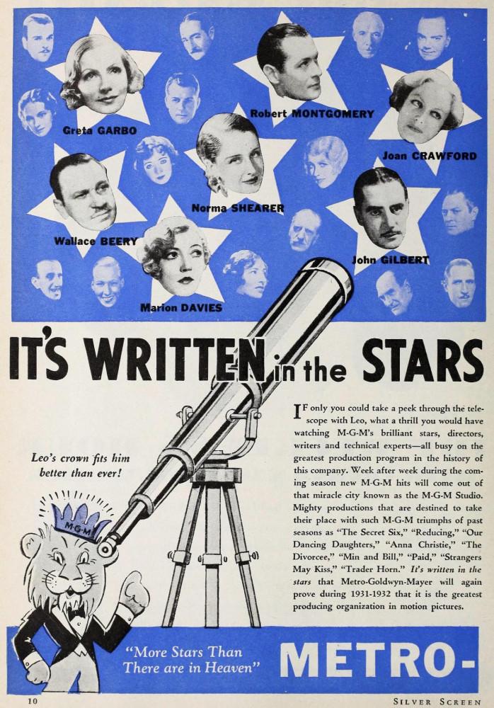 silver screen august 1931fa