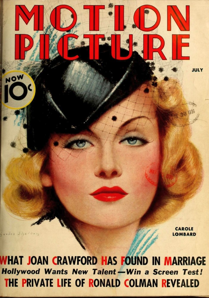 carole lombard motion picture july 1936 cover large