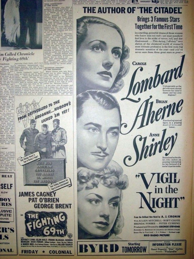 carole lombard vigil in the night 021440aa richmond times-dispatch