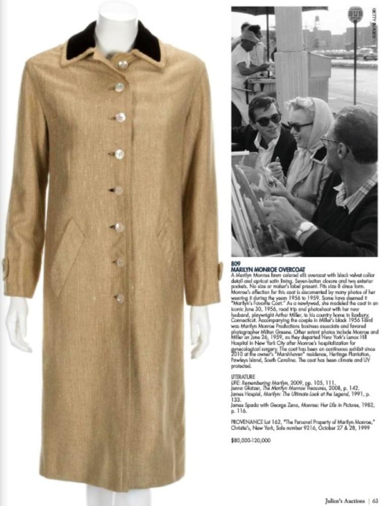 marilyn monroe coat julien's 01