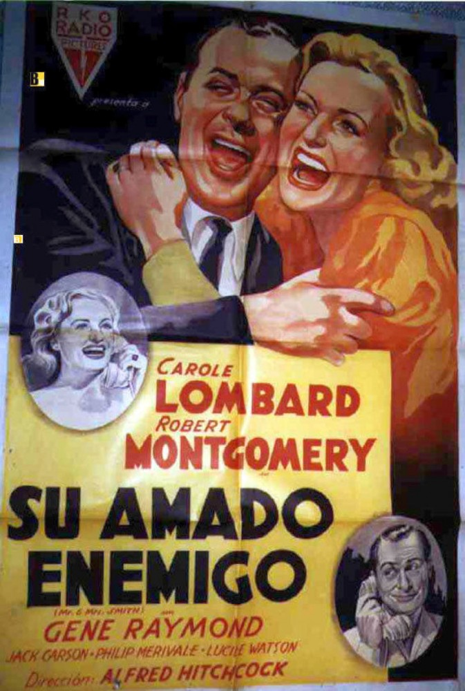 carole lombard mr. & mrs. smith poster argentina 00a