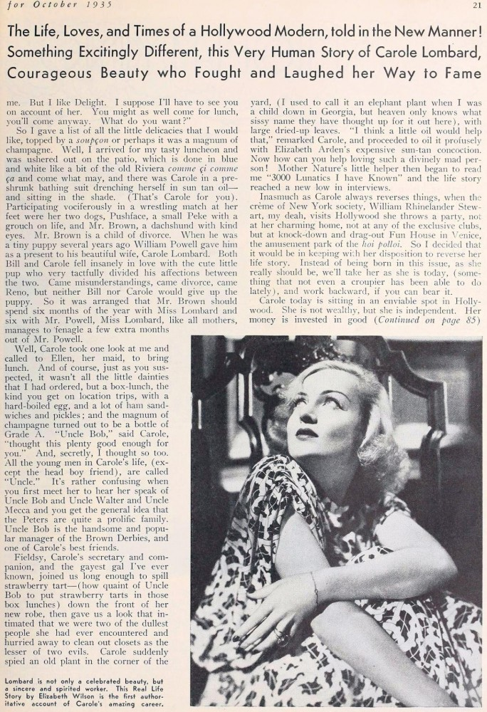 carole lombard screenland october 1935ba