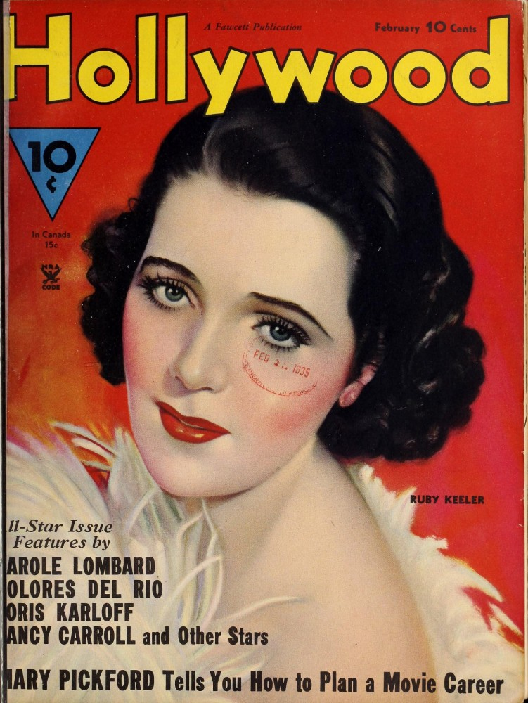 hollywood february 1935 cover ruby keeler