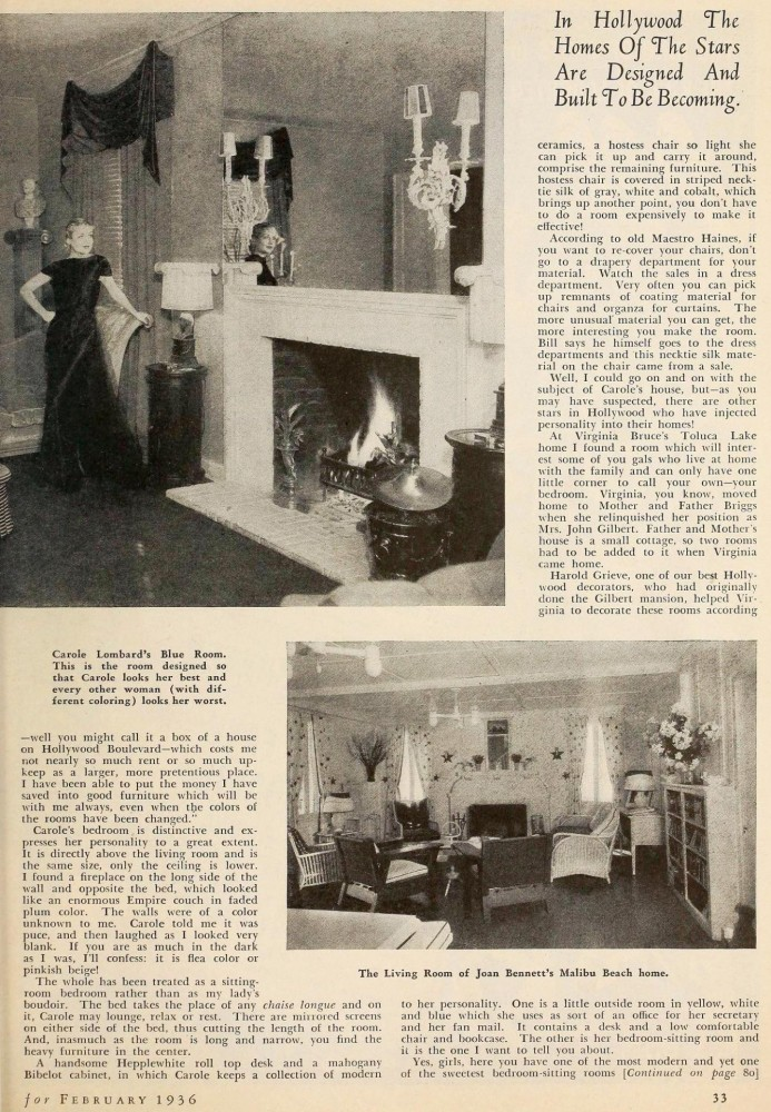 carole lombard silver screen february 1936ba