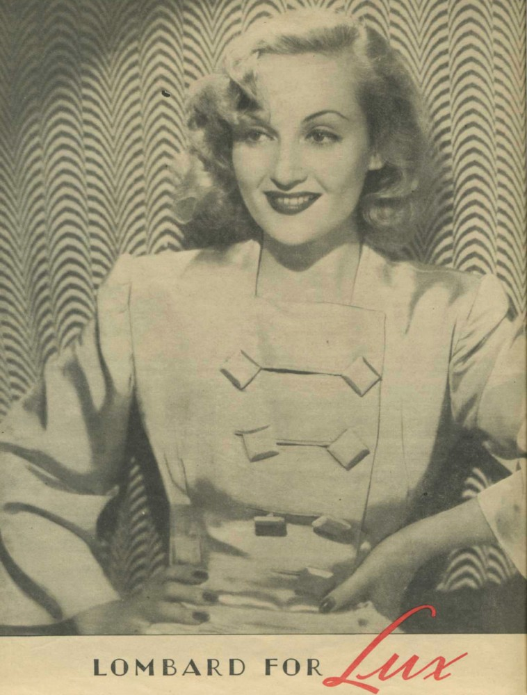 carole lombard lux ad 1940 large