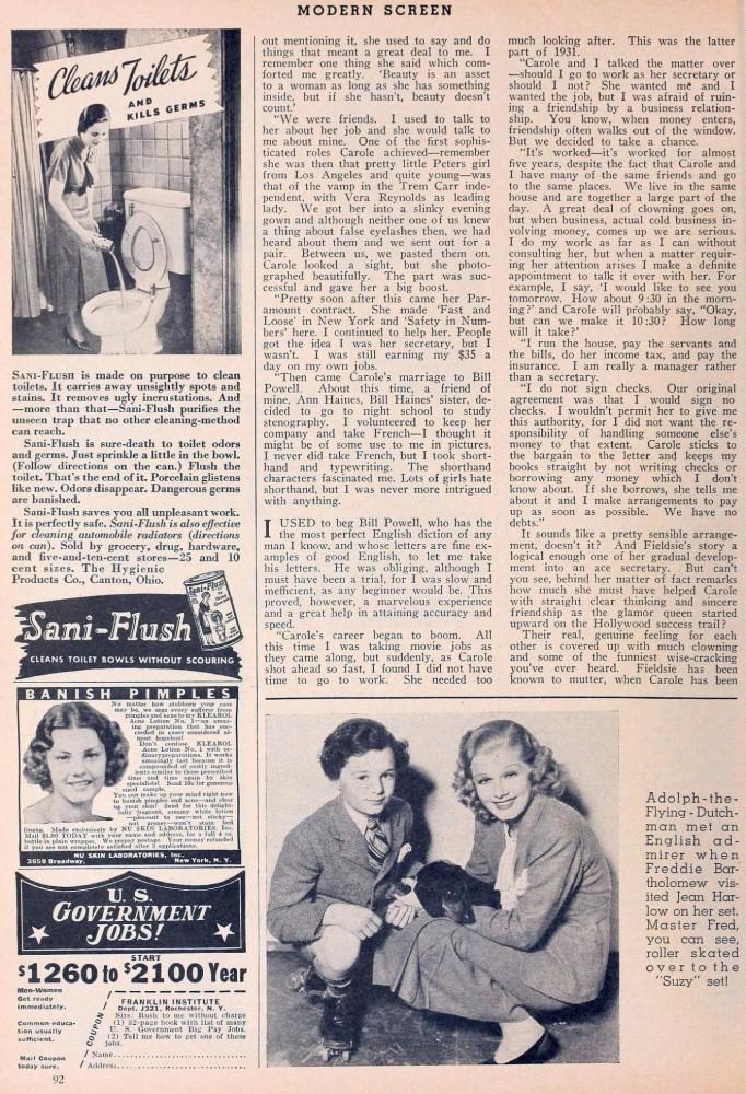 carole lombard modern screen june 1936da