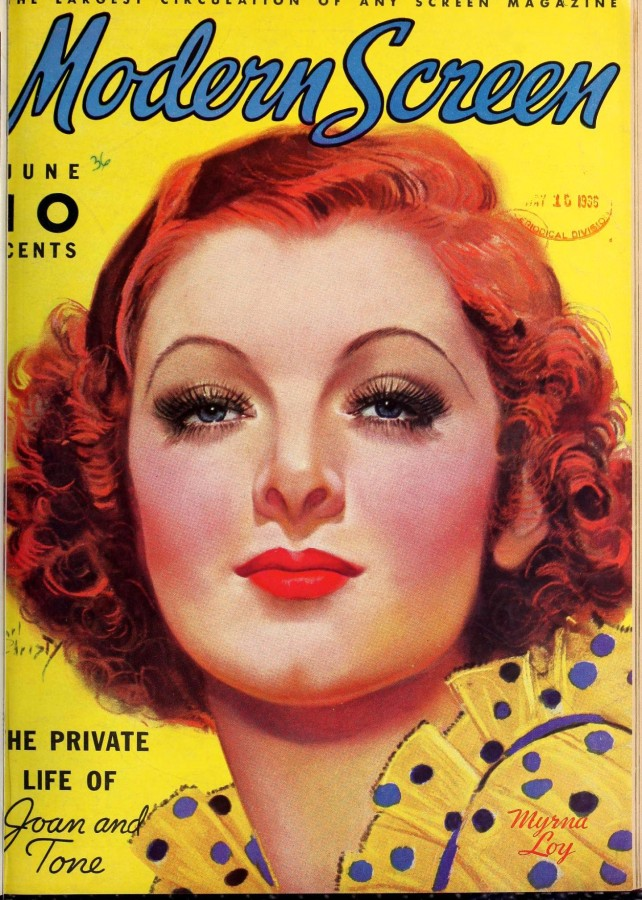 myrna loy modern screen june 1936a