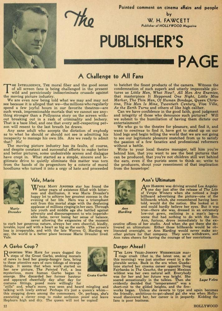 hollywood october 1934ca