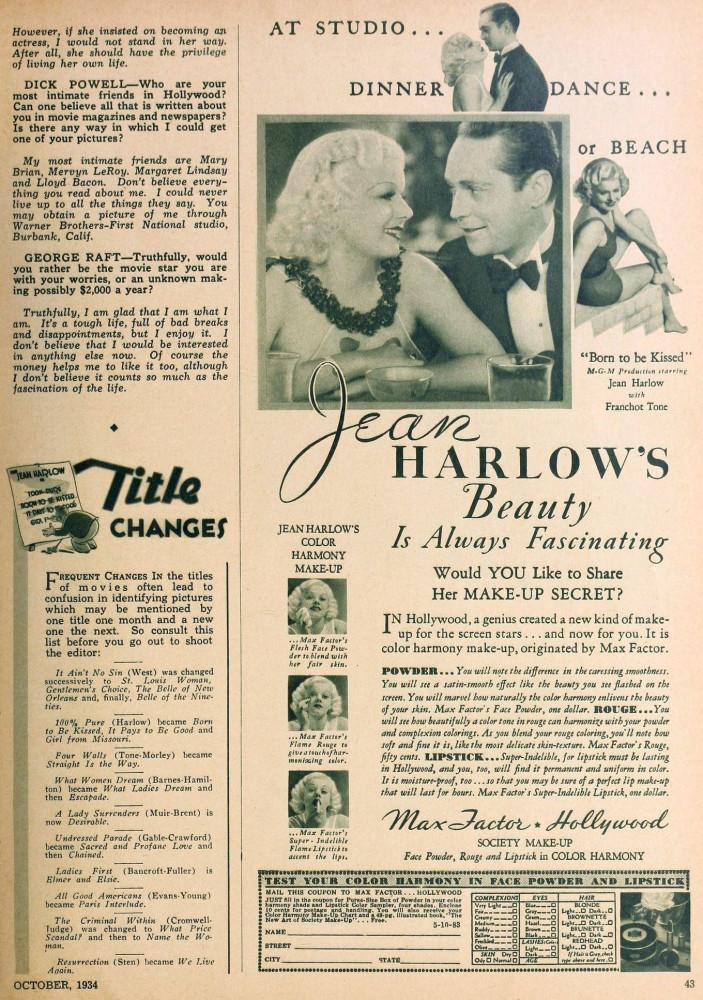 hollywood october 1934da