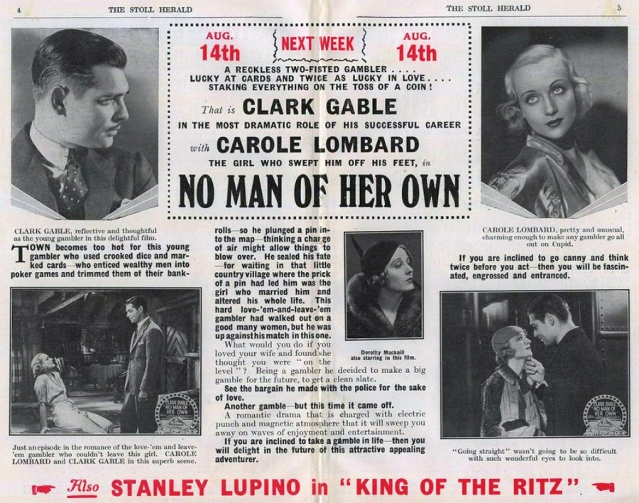 carole lombard stoll picture theatre no man of her own 00a