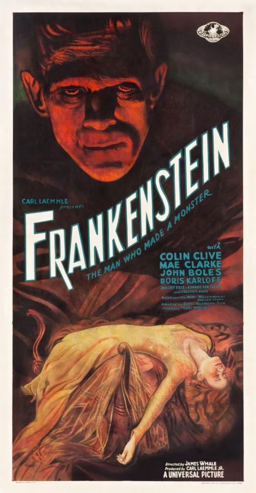 1931 frankenstein three-sheet