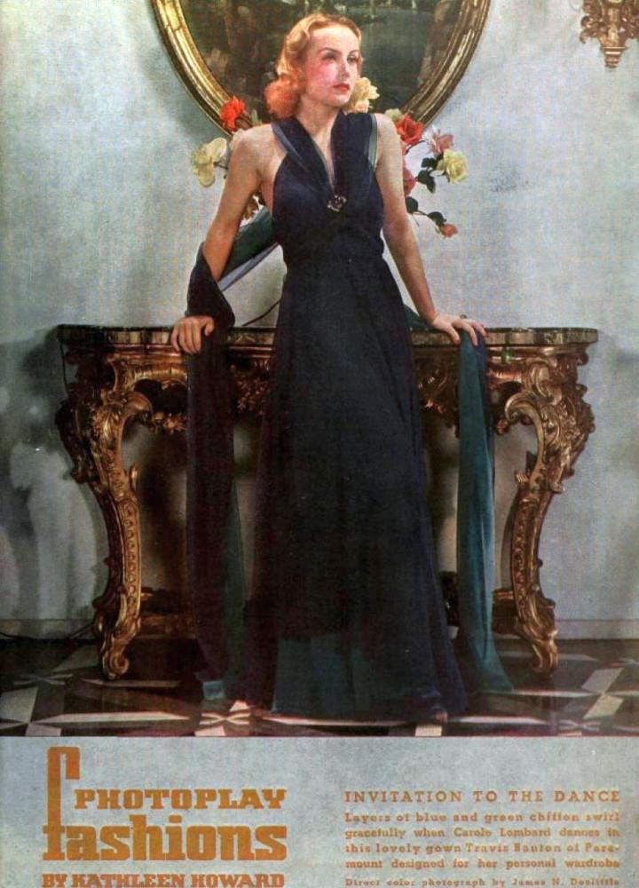carole lombard photoplay april 1936 travis banton color large