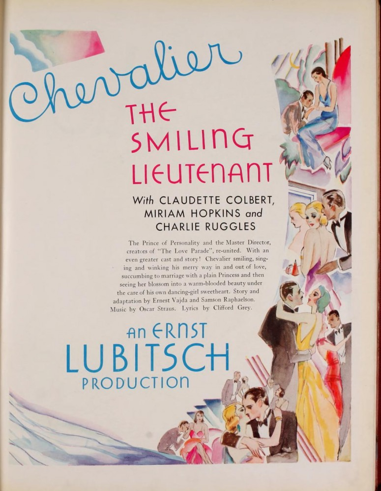 the smiling lieutenant 1931-32 paramount pressbook 01