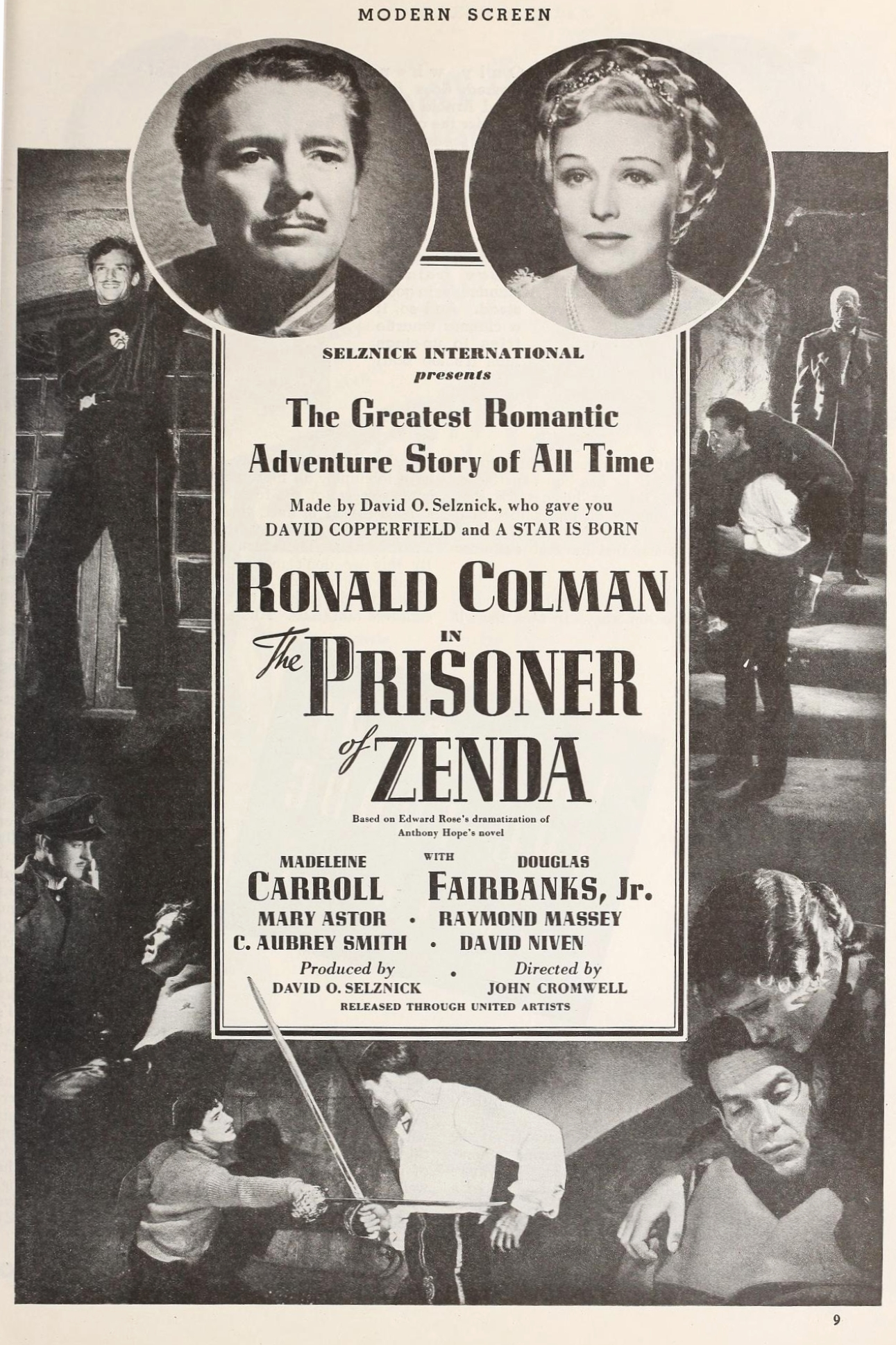 modern screen marvelously refreshed carole co then there s selznick international s prisoner of zenda