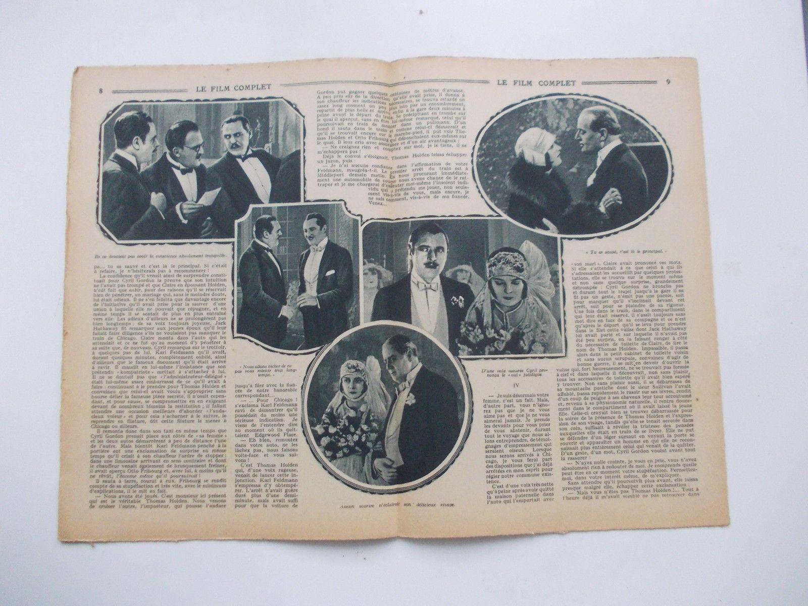 That's because in January 1926, the magazine Le Film Complet did a two-page  spread on it. Here's proof: