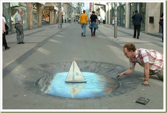Amazing-3D-sidewalk-art-this-is-on-a-flat-surface
