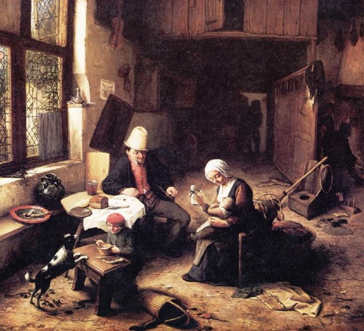 Адриан ван Остаде внутри крестьянской избы.png