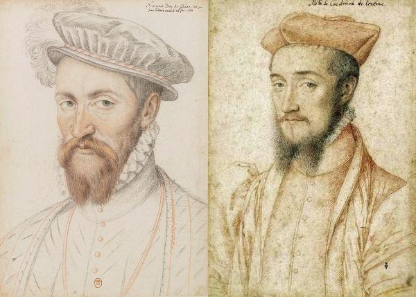 Братья Гизы. Франциск (герцог) и Карл (кардинал).