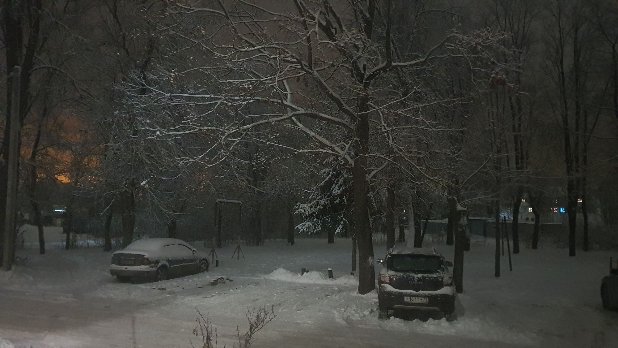 В этом году очень красивая зима