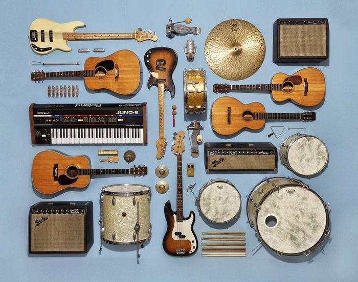 Картинки с муз инструментами коллаж, поздравления