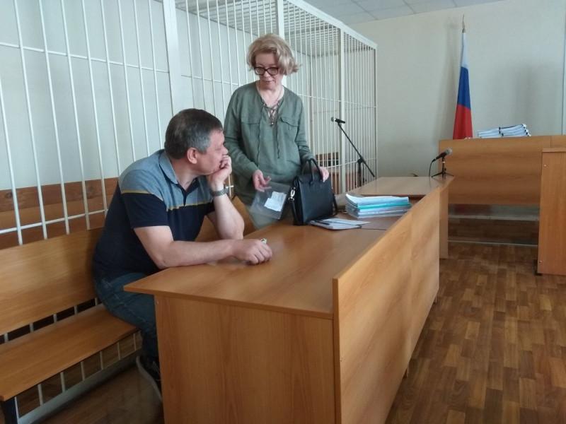 Андрей Цепов на первом заседании суда