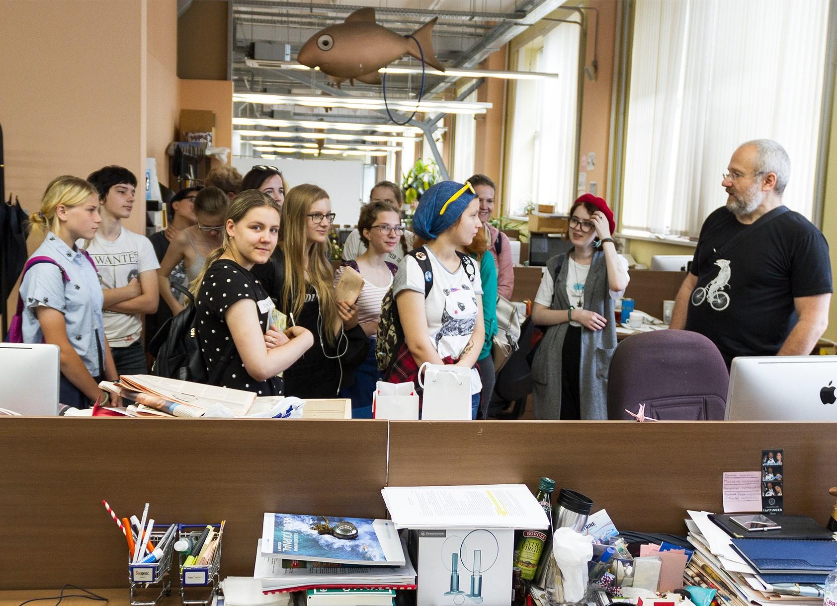 Стажировка в благотворительном фонде ВТОРОЕ ДЫХАНИЕ. Лекции и экскурсии в газете «Ведомости»