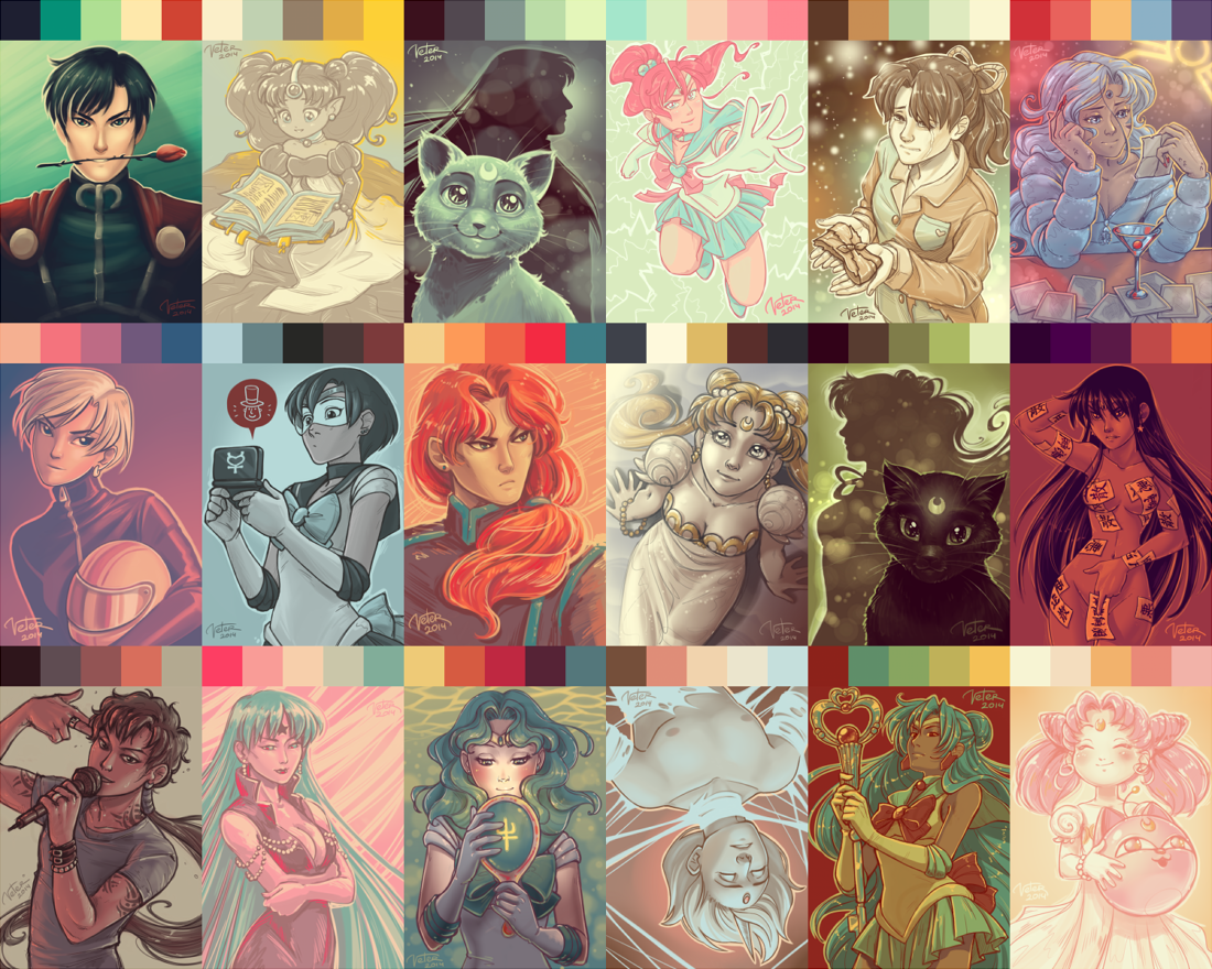 Sailor Moon Palette Challenge