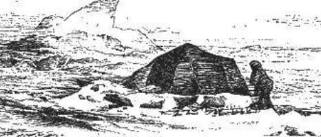 Круглая палатка, которую использовали при движении по дрейфующему льду.