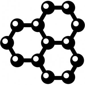 Значок графена - три шестерки