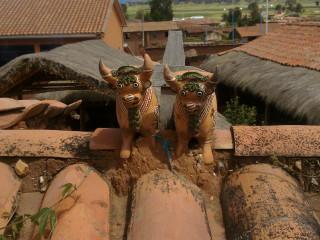 Обереги на крыше дома